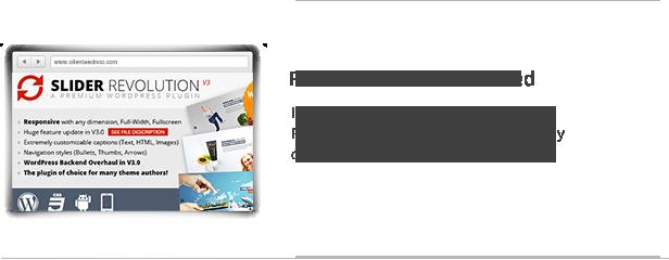 Revolution Slider Included
