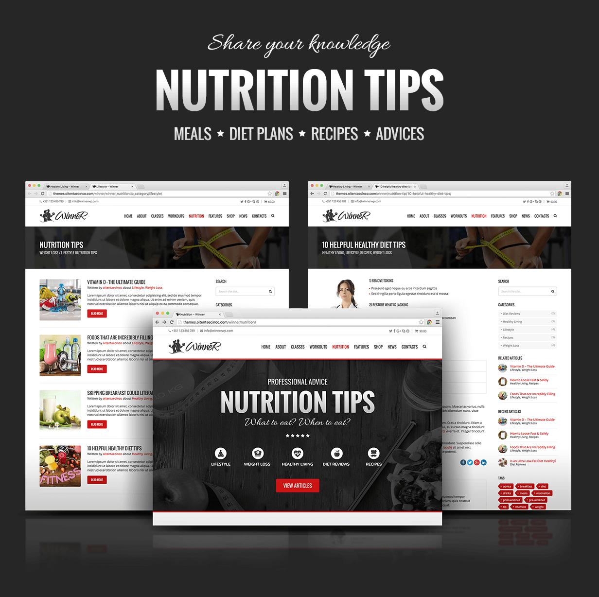 Winner Nutrition Tips
